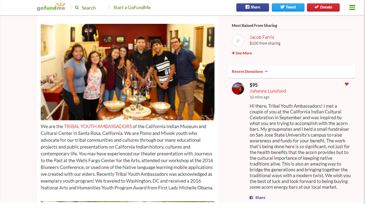SJSU student fundraiser acorn bars