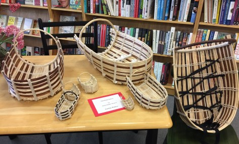 Corine baskets at Bookstore